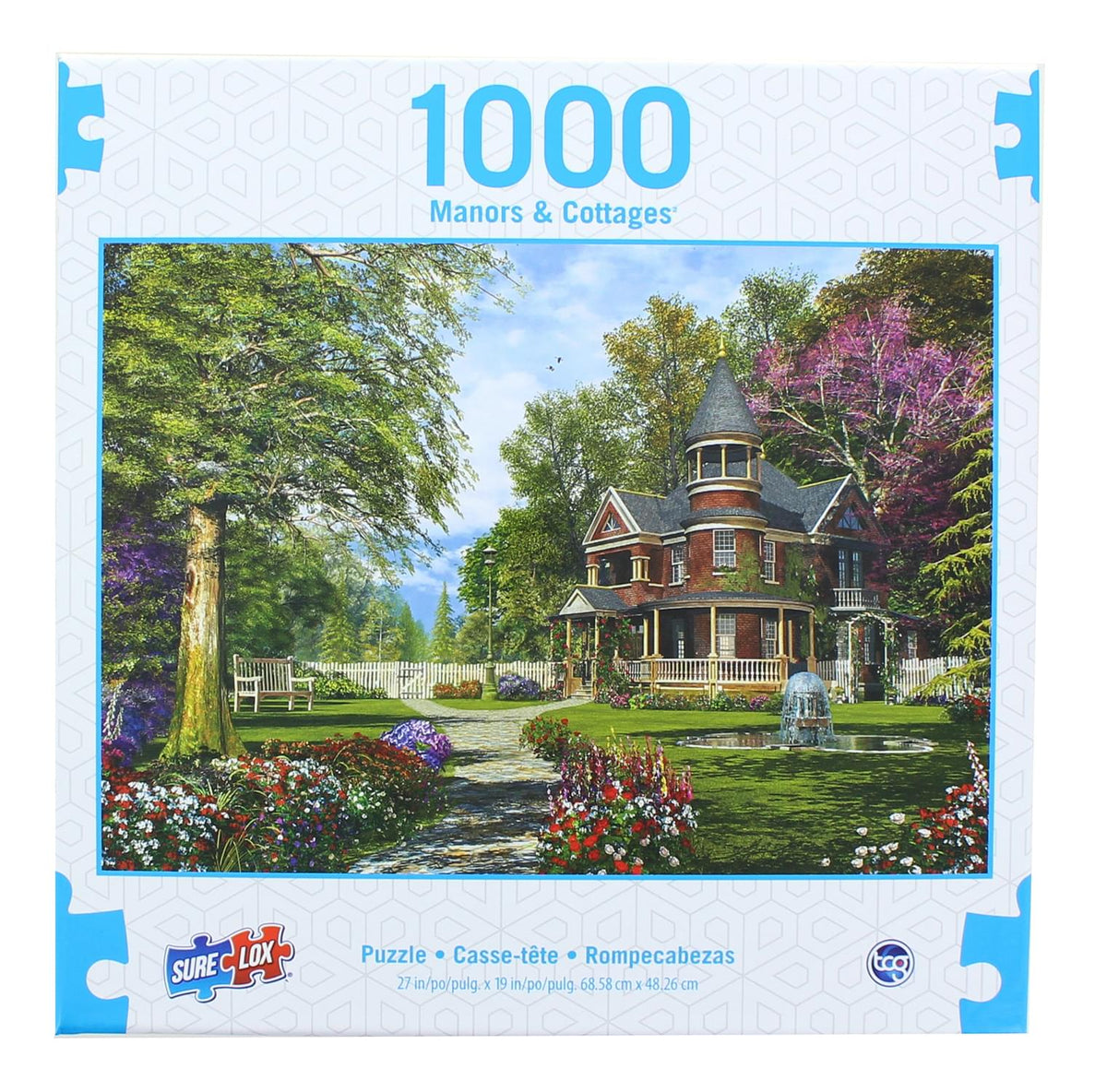 Manors & Cottages 1000 Piece Jigsaw Puzzle | Late Summer Garden