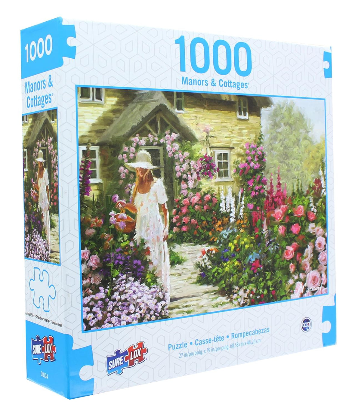 Manors & Cottages 1000 Piece Jigsaw Puzzle | Secret Garden