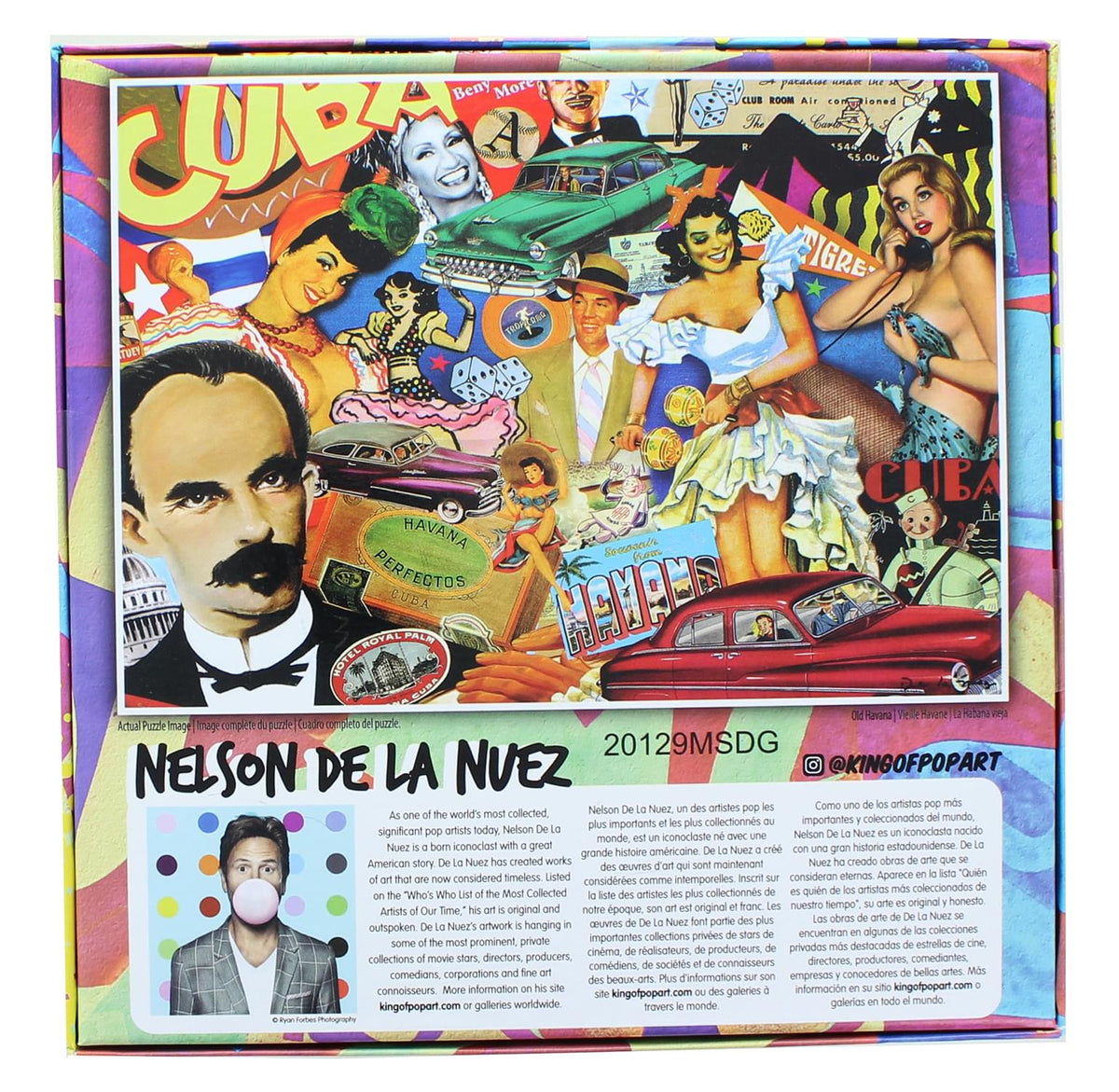 Nelson De La Nuez King Of Pop Art 1000 Piece Jigsaw Puzzle | Old Havana
