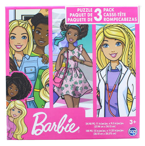 Barbie Jigsaw Puzzle 3 Pack |  24, 48, & 100 Pieces
