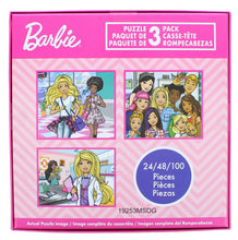 Load image into Gallery viewer, Barbie Jigsaw Puzzle 3 Pack |  24, 48, & 100 Pieces