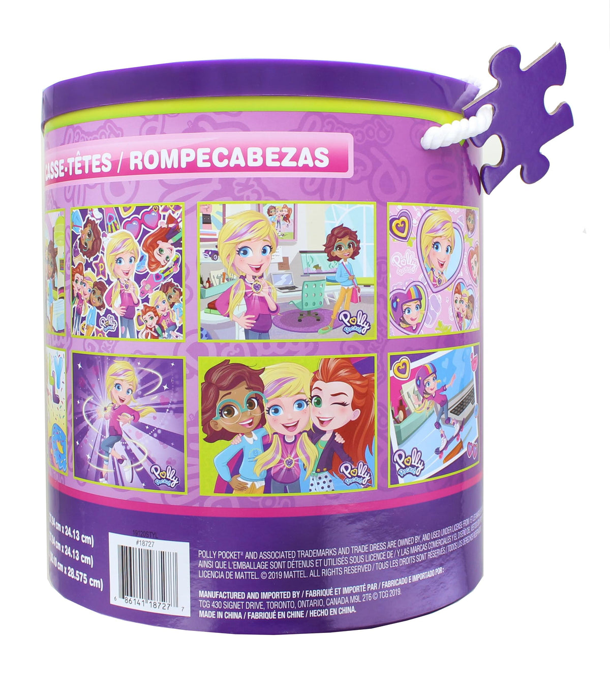 Polly Pocket Jigsaw Puzzle 12 Pack |  24, 48, & 100 Pieces