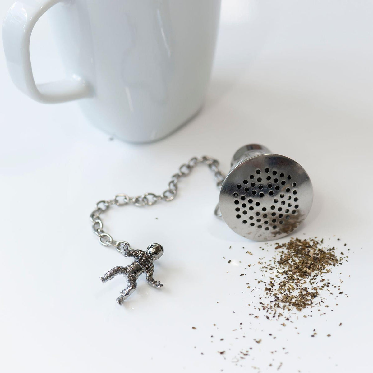 Space Capsule w Astronaut Stainless Steel Tea Infuser