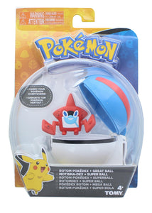 Pokemon Clip and Carry Poke Ball | 2 Inch Rotom and Great Ball