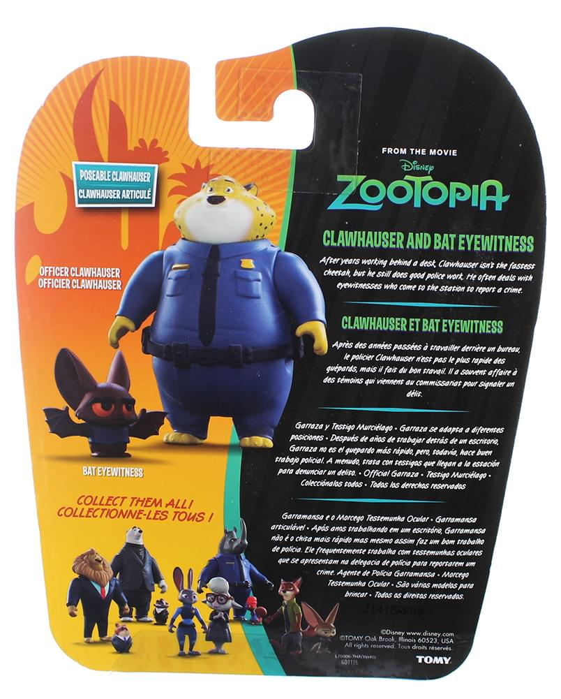 Disney Zootopia Chararcter 2-Pack Clawhauser & Bat Eyewitness