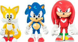 Sonic the Hedgehog Classic 16 Bit Pixel 3 Inch Figure 3-Pack w/ Rings