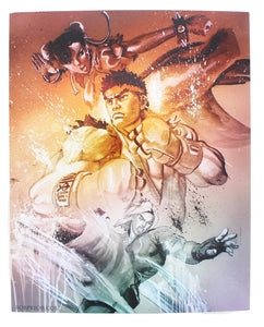 Street Fighter V Versus Limited Edition 8x10 Inch Art Print by Rob Prior