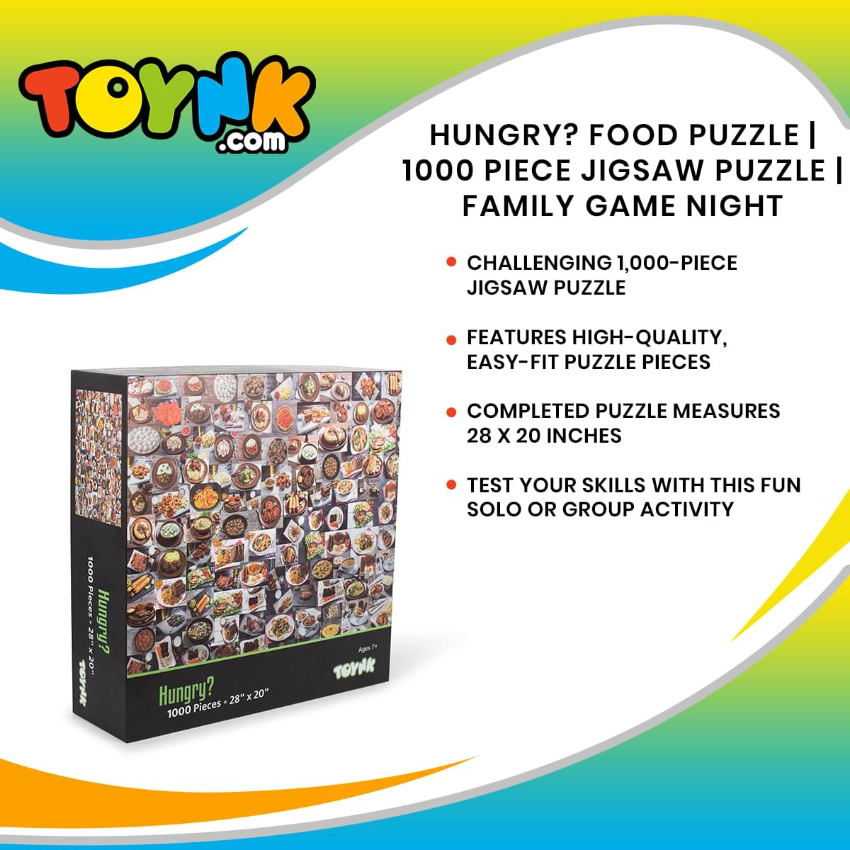 Hungry? Food Puzzle | 1000 Piece Jigsaw Puzzle | Family Game Night