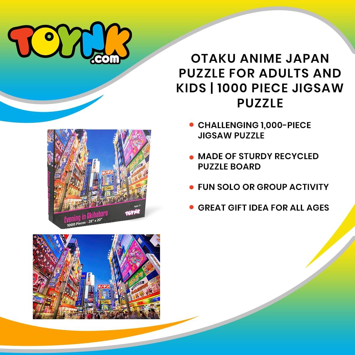 Evening in Akihabara Japan Puzzle For Adults And Kids | 1000 Piece Jigsaw Puzzle