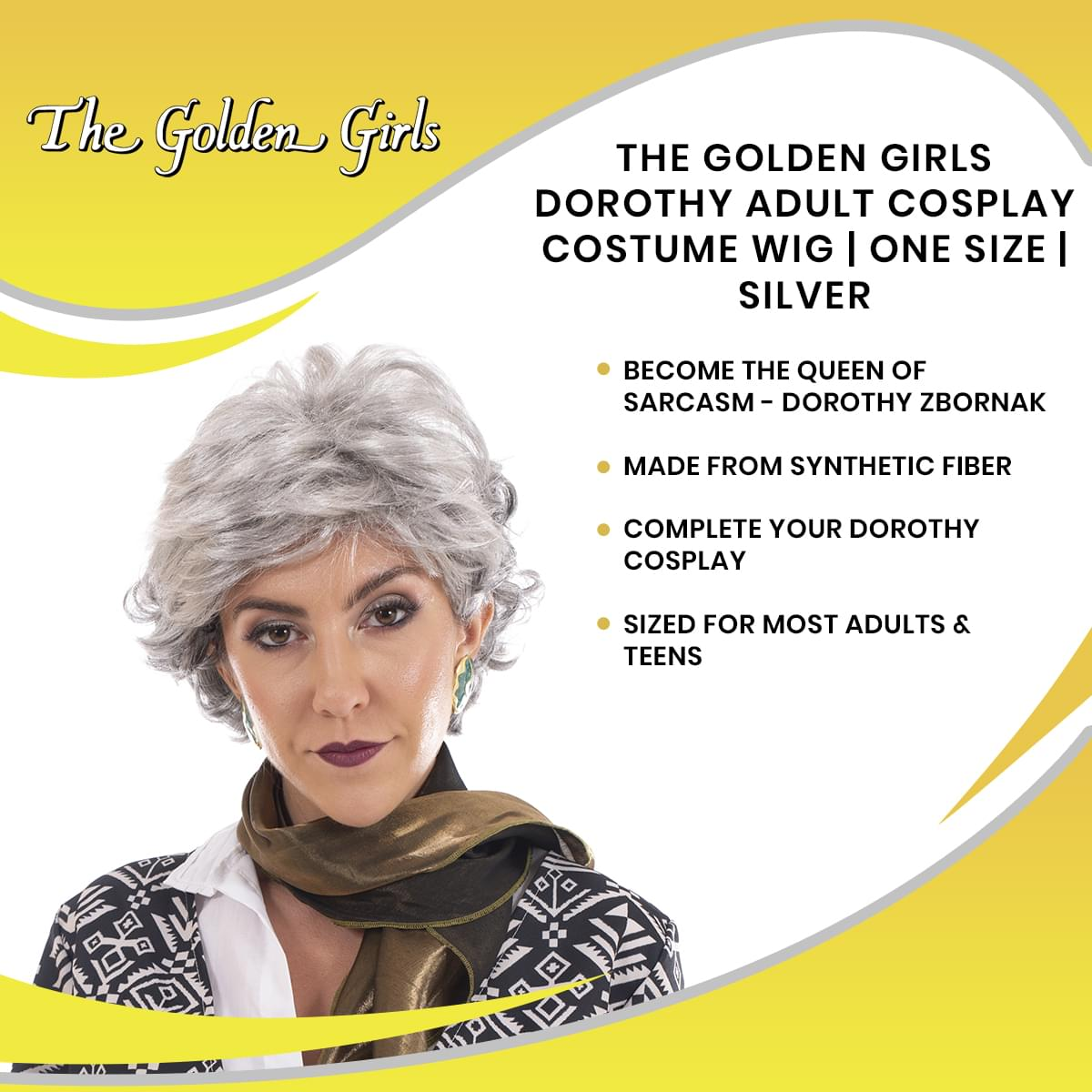 The Golden Girls Officially Licensed Dorothy Costume Cosplay Wig