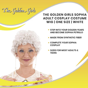 The Golden Girls Officially Licensed Sophia Costume Cosplay Wig