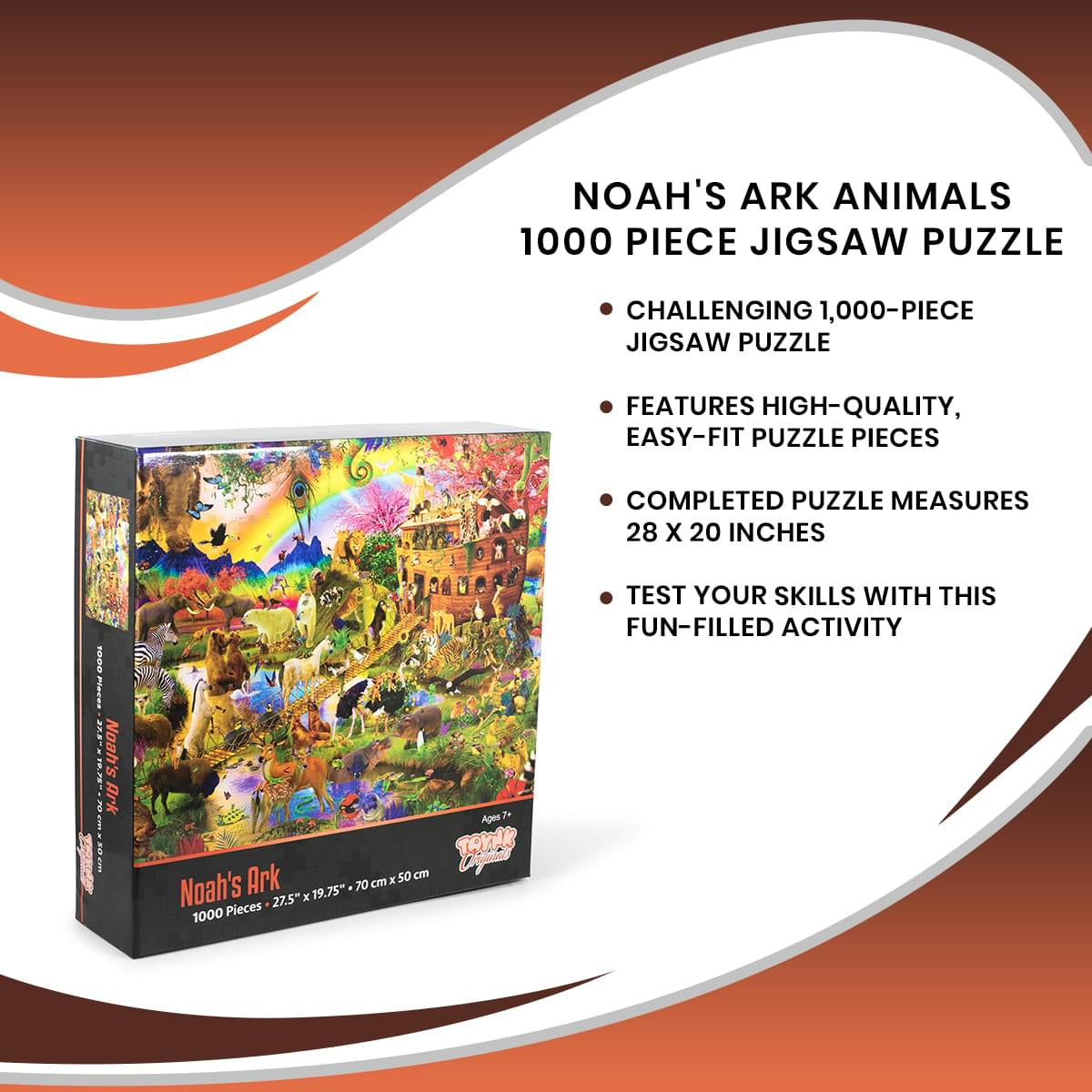 Noah's Ark Animals 1000 Piece Jigsaw Puzzle