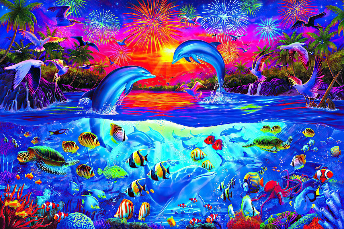A Dolphin's Paradise Ocean Puzzle For Adults And Kids | 1000 Piece Jigsaw Puzzle