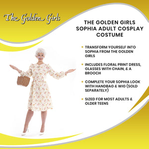 Golden Girls Sophia Costume | Officially Licensed | Adult Size