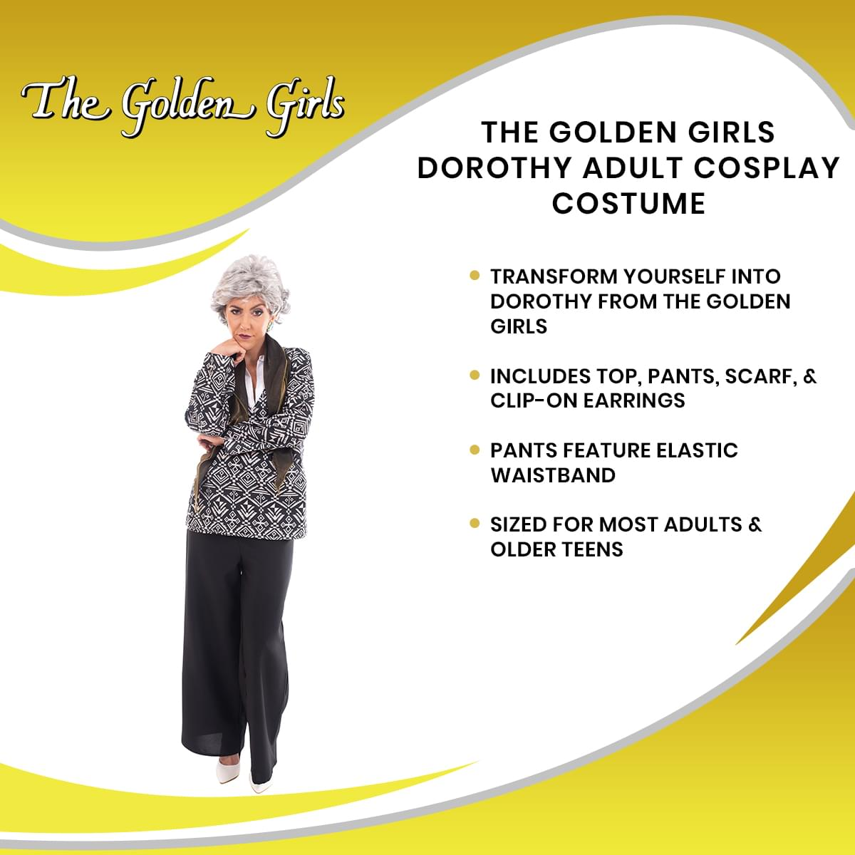 Golden Girls Dorothy Costume | Officially Licensed | Adult Size