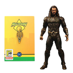 Aquaman Set of 2 with Action Figure and SDCC Exclusive Pin