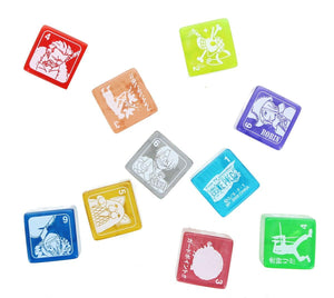 One Piece Character Dice Cubes, Set of 10