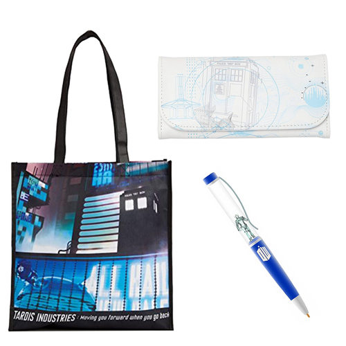 Doctor Who Themed Bundle With Tote, Wallet And Pen