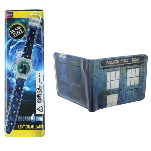 Doctor Who Themed Set With Wallet And Watch