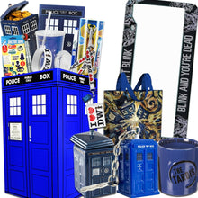 Load image into Gallery viewer, Doctor Who LookSee Box with Tardis Cookie Jar, Sonic Screwdriver, Dalek & More