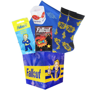 Fallout Series 3 Looksee Mini Box with Fallout 76 Socks, Trading Cards and More
