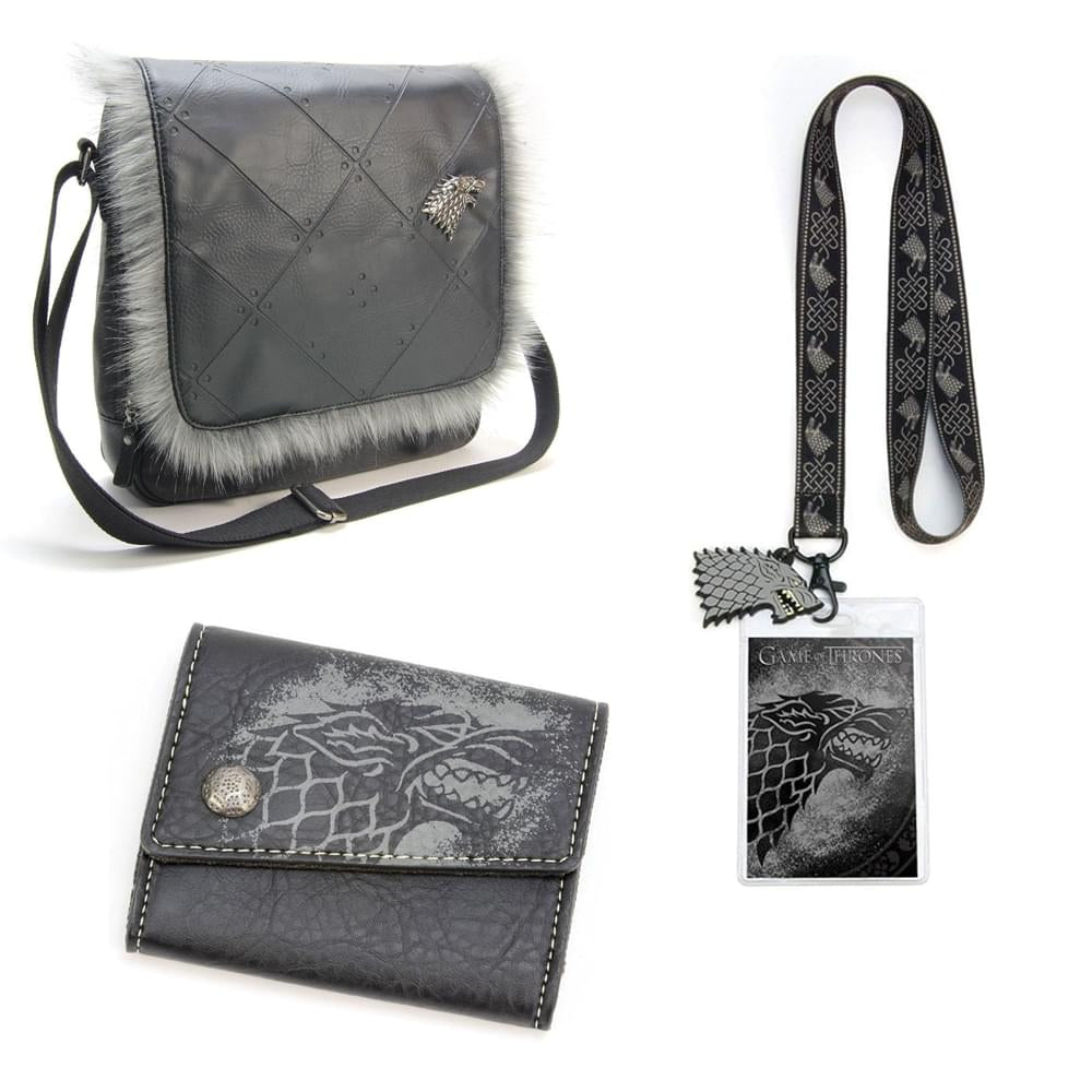 Game of Thrones House Stark Gift Set - Lanyard, Wallet & Messenger Bag