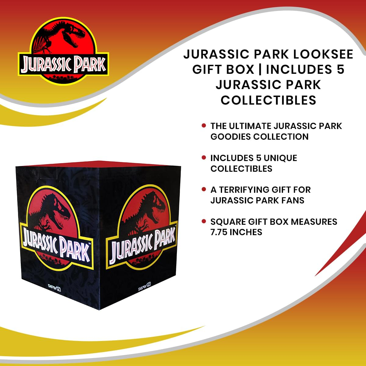 Jurassic Park Looksee Gift Box | Includes 5 Jurassic Park Collectibles