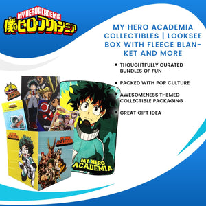 My Hero Academia Collectibles | Looksee Box with Fleece Blanket and More