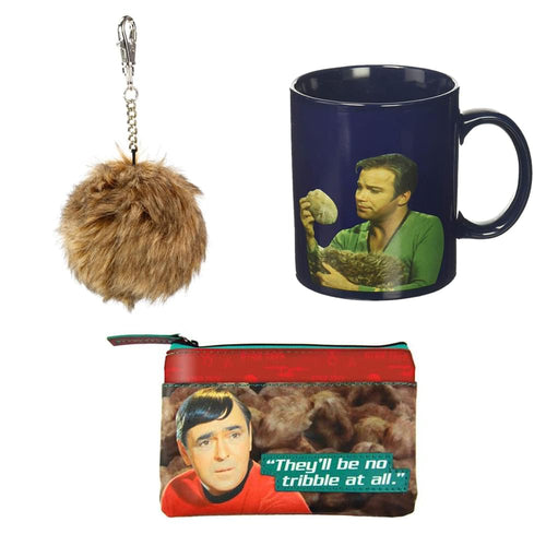Star Trek The Original Series Tribble Gift Set: Keychain, Mug, & Coin Bag