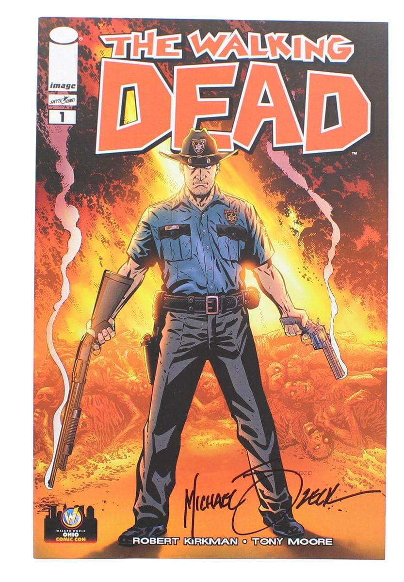 The Walking Dead #1 WW Ohio 2013 Exclusive Color Cover Signed By Mike Zeck
