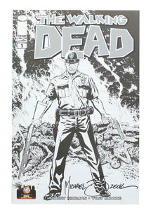 The Walking Dead #1 WW Ohio 2013 Exclusive B&W Cover Signed By Mike Zeck