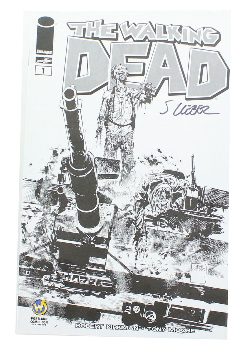 The Walking Dead #1 WW Portland Exclusive B&W Cover Signed By Steve Lieber