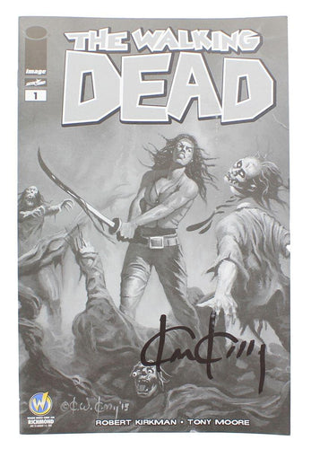 The Walking Dead #1 WW Richmond Exclusive B&W Cover Signed By Ken Kelly