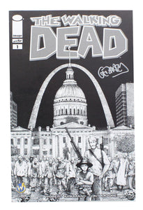 The Walking Dead #1 WW St Louis Exclusive B&W Cover Signed By Gerhard