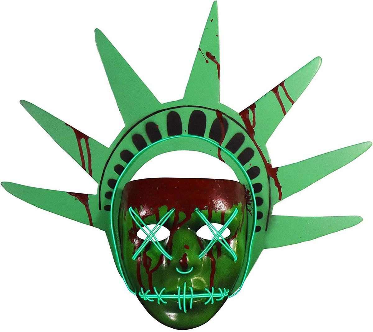 The Purge Election Year Lady Liberty Adult Light Up Injection Mask