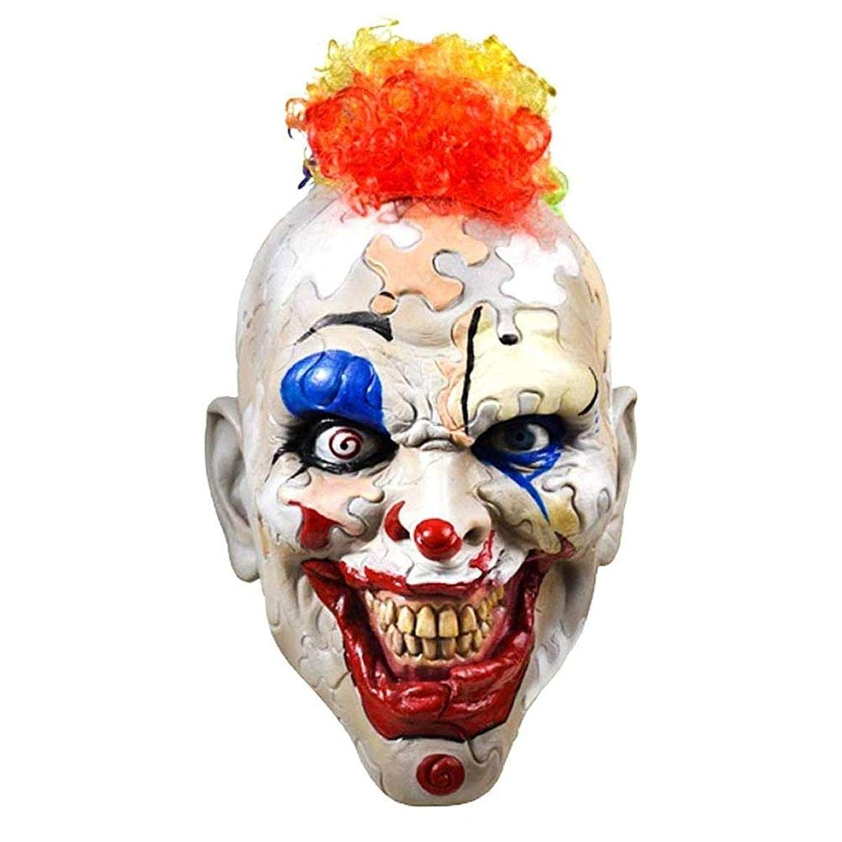 American Horror Story Cult Puzzle Face Clown Adult Latex