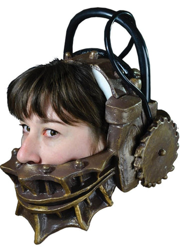 SAW Reverse Bear Trap Full Head Adult Costume Mask