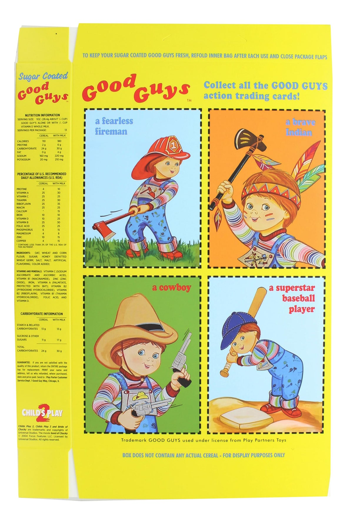 Child's Play 2 Good Guys Cereal Box | Chucky Doll Accessory
