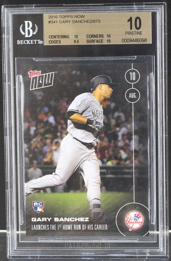 Gary Sanchez New York Yankees 2016 Topps Now Rookie Card #341 BGS 10