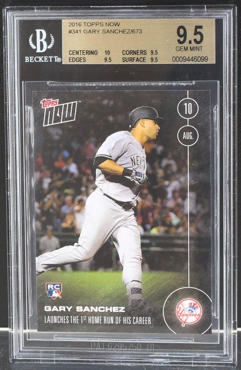 Gary Sanchez New York Yankees 2016 Topps Now Rookie Card #341 BGS 9.5