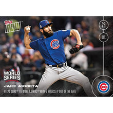 Load image into Gallery viewer, Topps NOW 5 Hitless IP Chicago Cubs Jake Arrieta Card #632