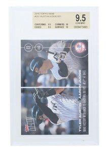 NY Yankees Tyler Austin/ Aaron Judge 2016 Topps NOW Rookie Card #351 BGS 9.5