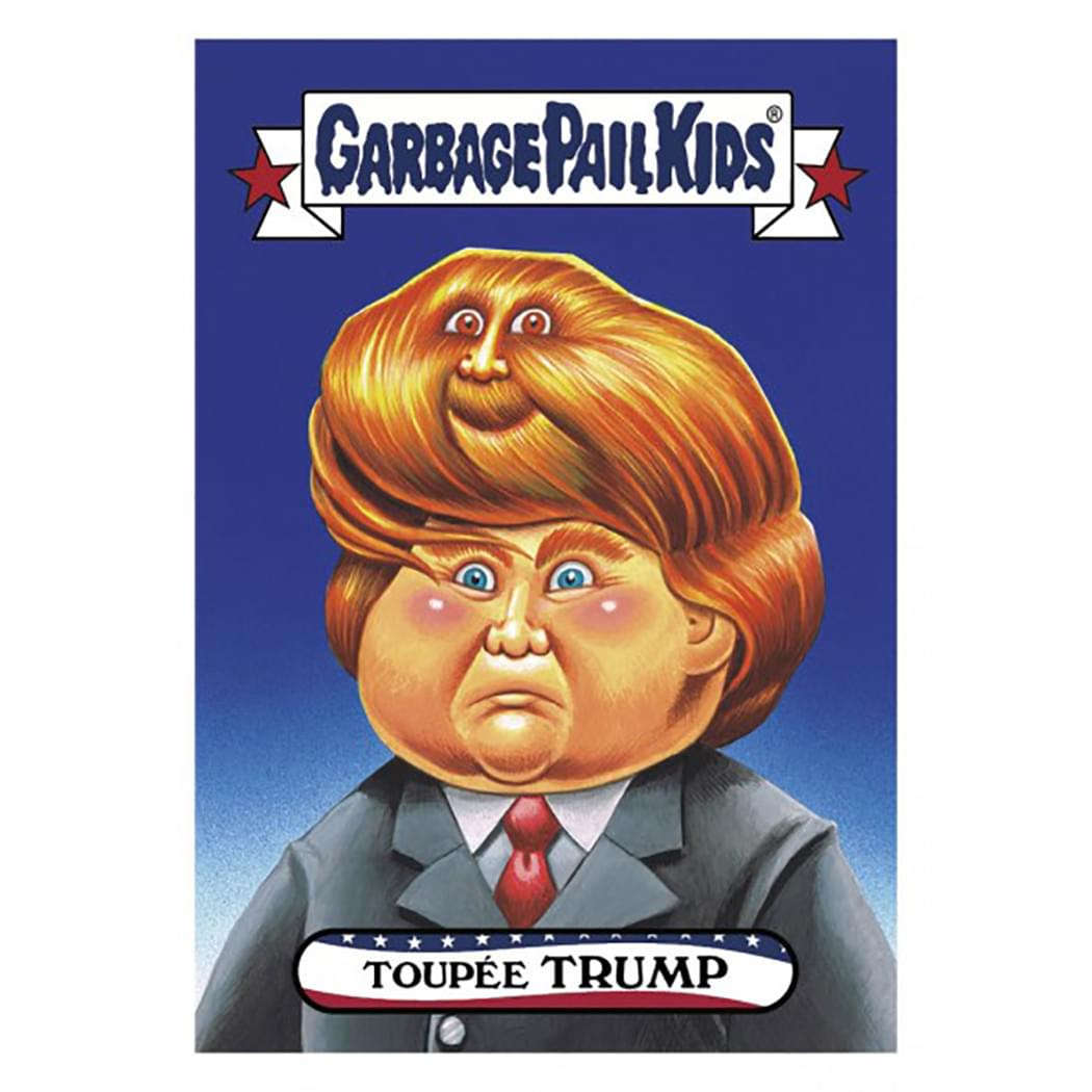 Garbage Pail Kids Disg-Race To The White House Toupee Trump #29