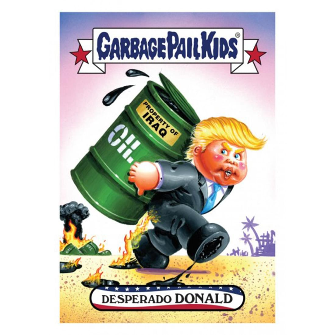 Garbage Pail Kids Disg-Race to the White House Desperado Donald #3
