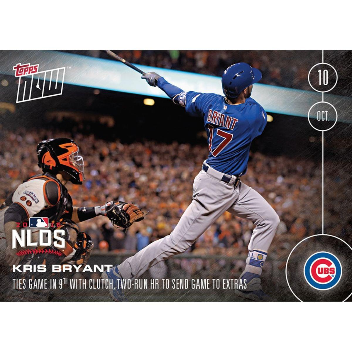 MLB Chicago Cubs Kris Bryant #566 Topps NOW Trading Card