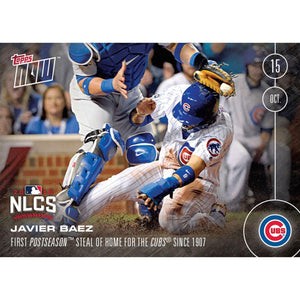 MLB Chicago Cubs Javier Baez #587 Topps NOW Trading Card