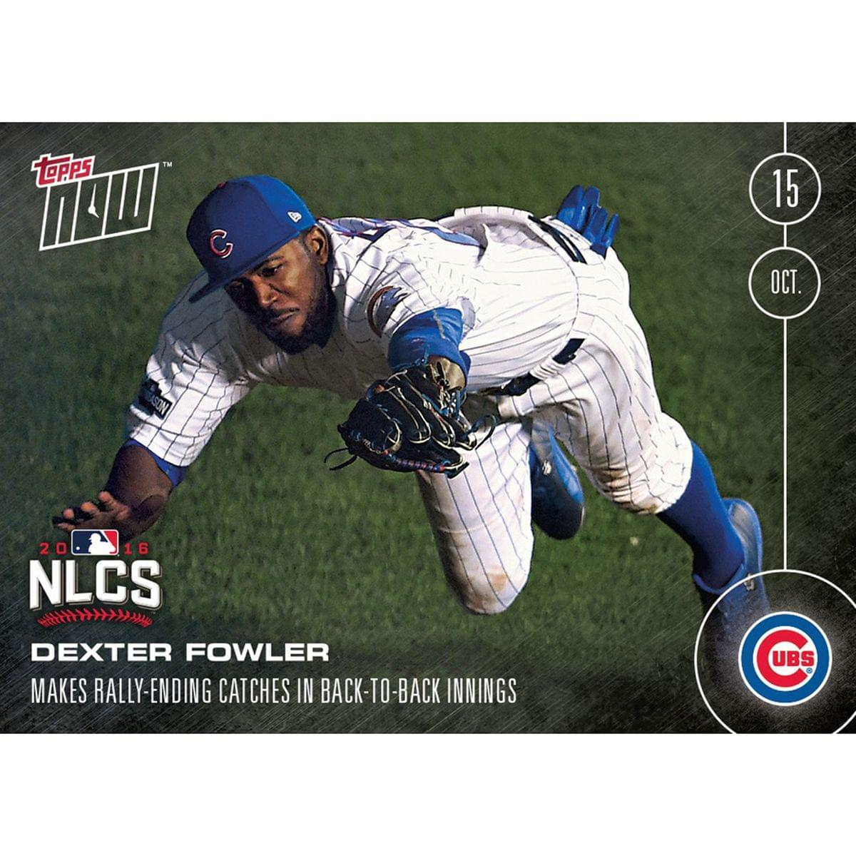 MLB Chicago Cubs Dexter Fowler #588 Topps NOW Trading Card