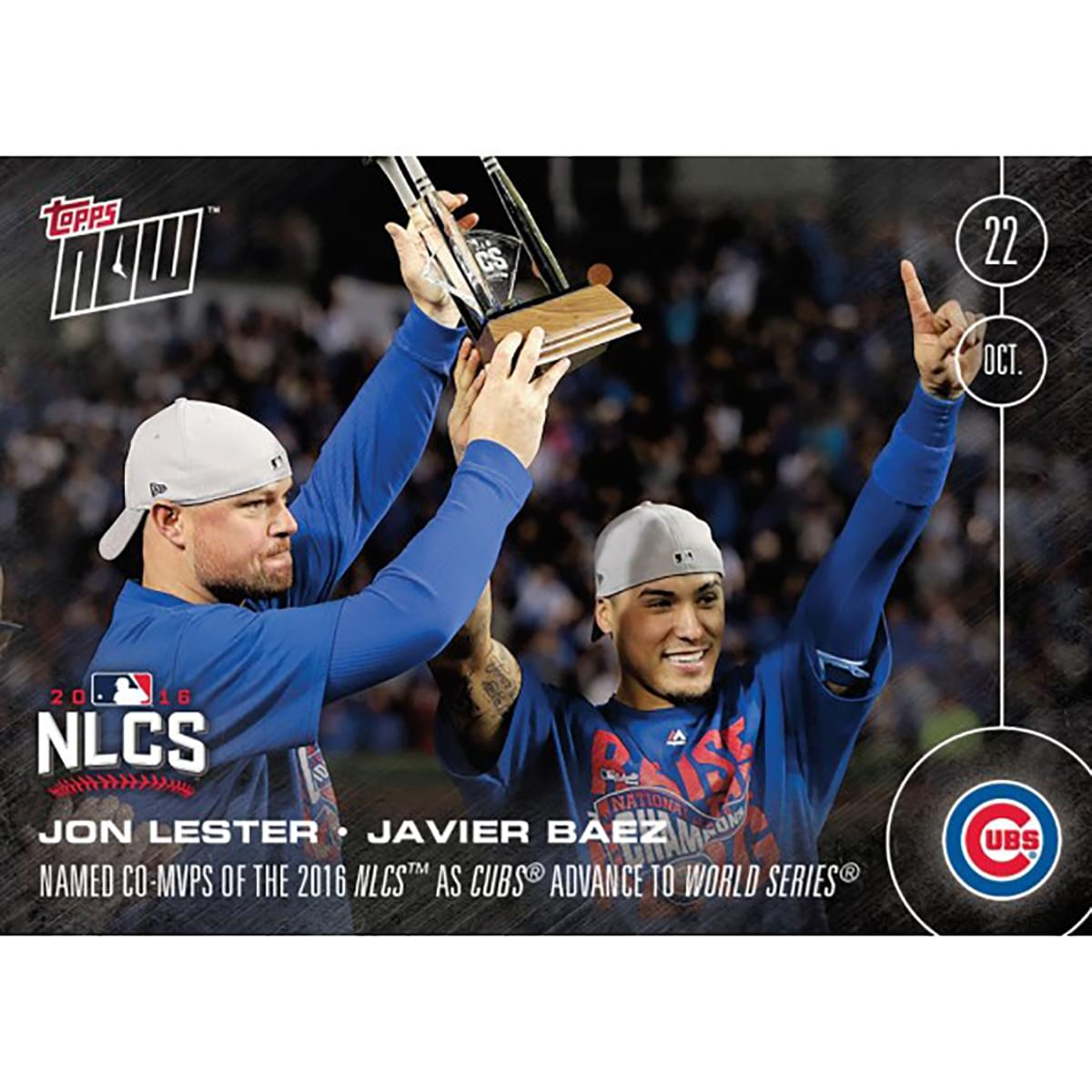 MLB Chicago Cubs Javier Baez/ Jon Lester #617 2016 Topps NOW Trading Card