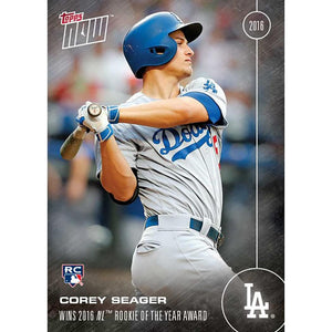 Topps NOW NL Rookie Of Year Dodgers Corey Seager RC Card #OS16A