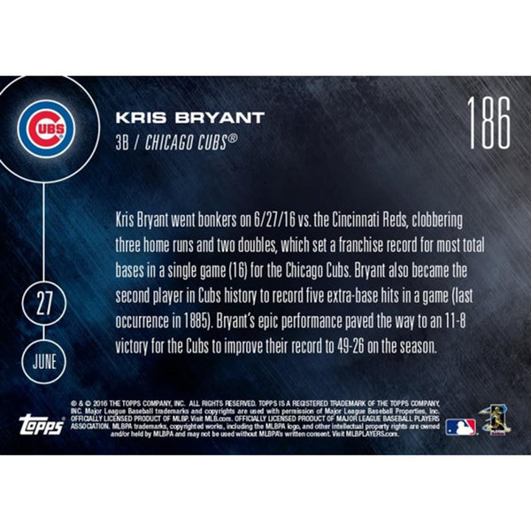Chicago Cubs, Kris Bryant MLB 2016 Topps NOW Card 186